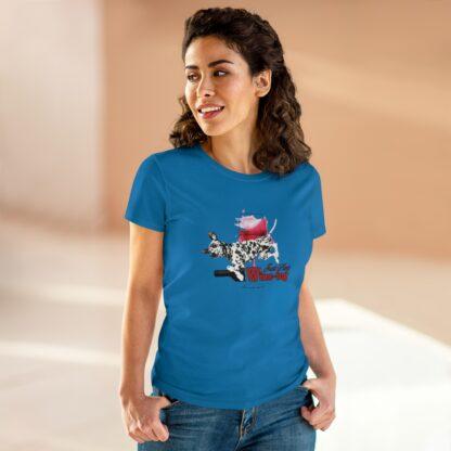 Dalmatian t-shirt - Just Keep Wine-ing